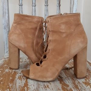 SAM EDLEMAN genuine suede leather open toe lace up